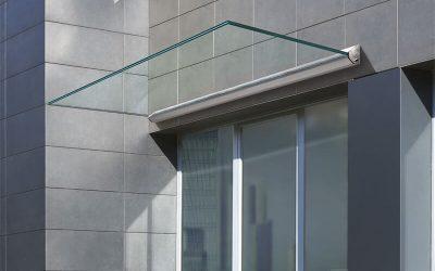 Козырьки из закаленного стекла